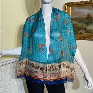 Liz Claiborne Silk Long Scarf Foulard